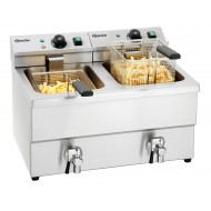 Fritteuse Imbiss II, 2x8L, TG, Hahn